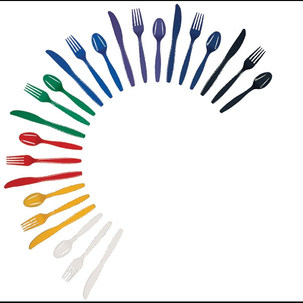 Imprinted Colored Plastic Spoon
