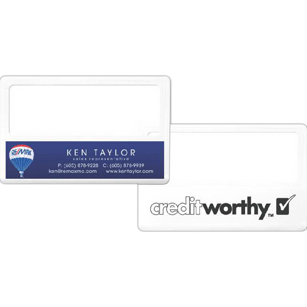 Personalized Business card magnifier