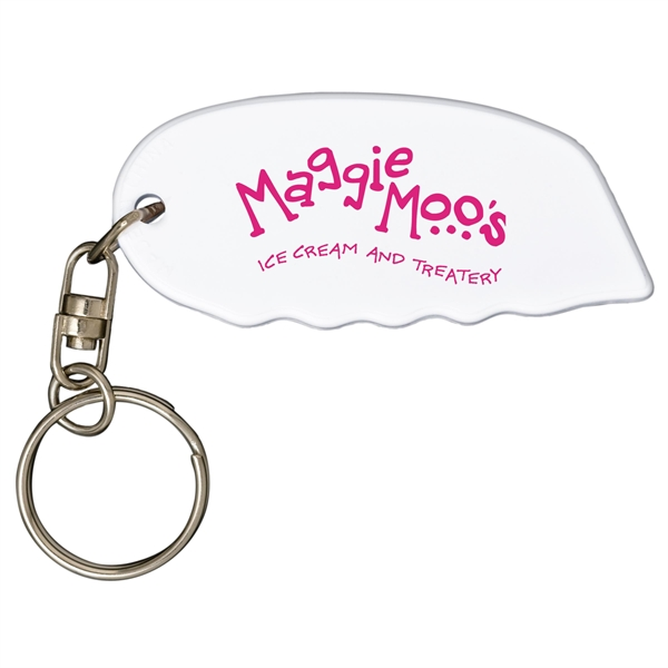 Imprinted Safety cutter key tag