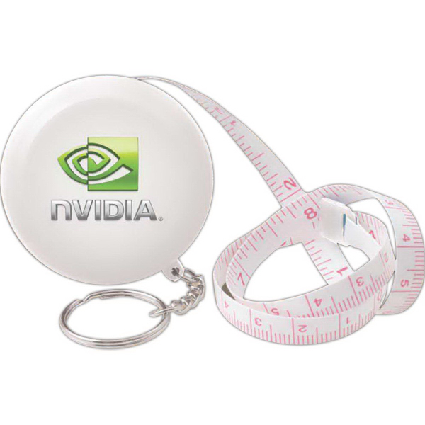 Promotional Round tape measure key tag