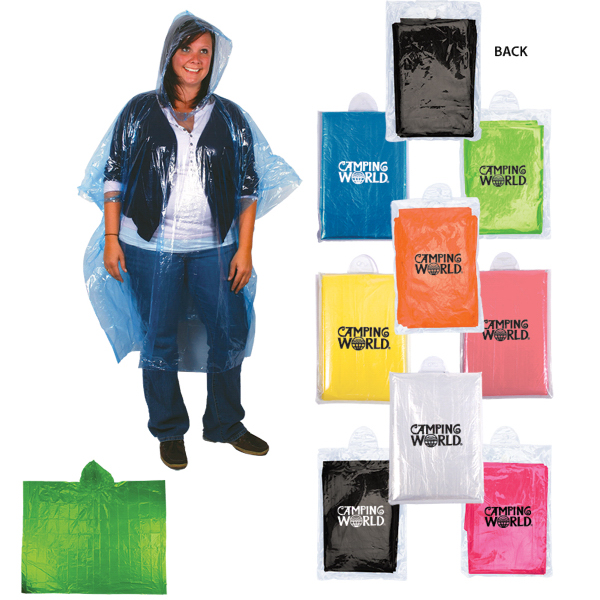 Imprinted Disposable Rain Poncho