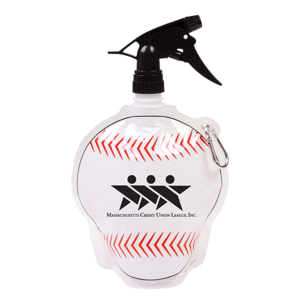 Personalized 24oz Baseball Collapsible Spray Top Water Bottle