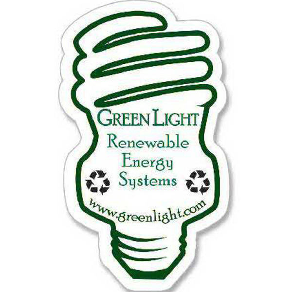 Personalized CFL Light Bulb Magnet - Series 250