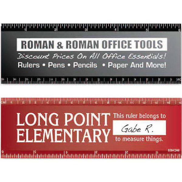 "Printed 6"" Wide Bodied Ruler"