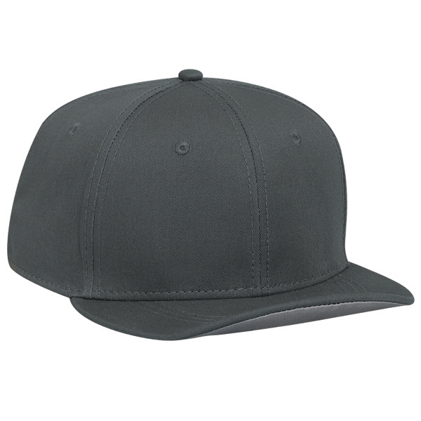 Customized Cotton twill flat to flip visor snapback cap