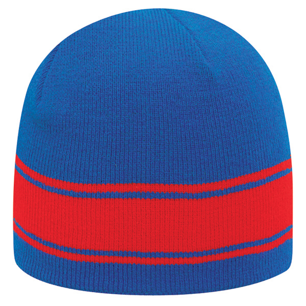 "Promotional 8"" Beanie with stripes"