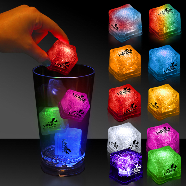 Custom Light Up Premium LitedIce Brand Ice Cube