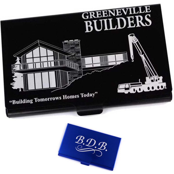 Customized Aluminum Business Card Holder