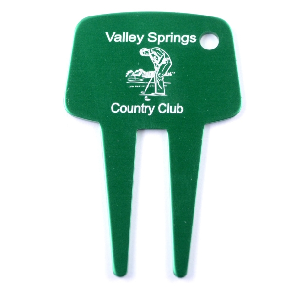 Imprinted Golf Divot Tool Key Chain