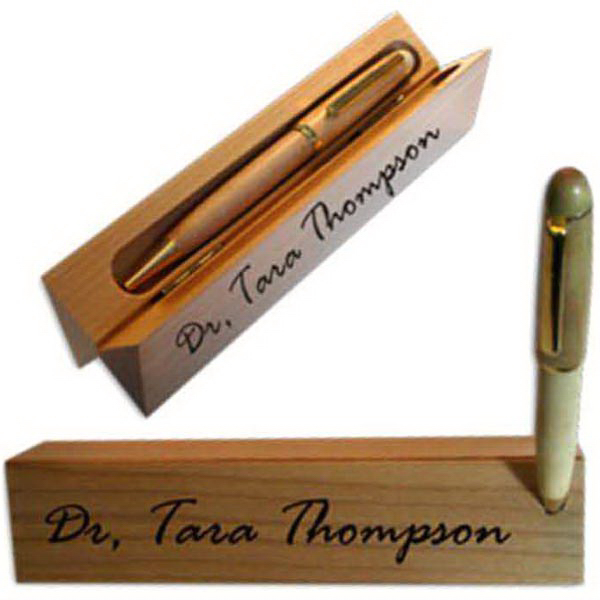 Personalized Triangle Desk Name Pen Box