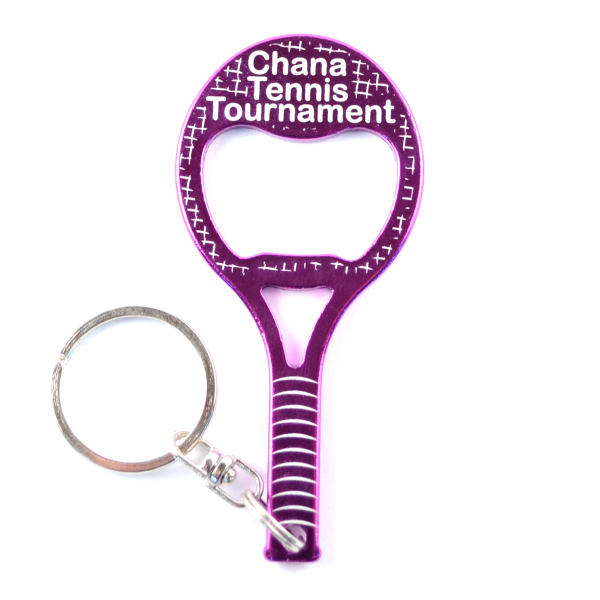 Custom Tennis Racket Bottle Openers/Key Chains