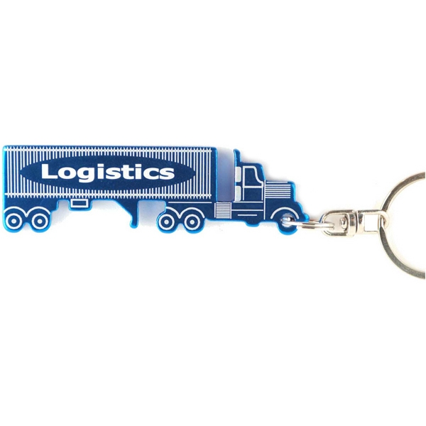 Custom Tractor Trailer Semi Key Chain