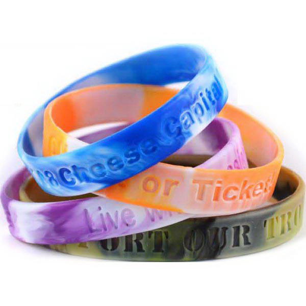 "Customized 1/2"" Debossed Wristbands"