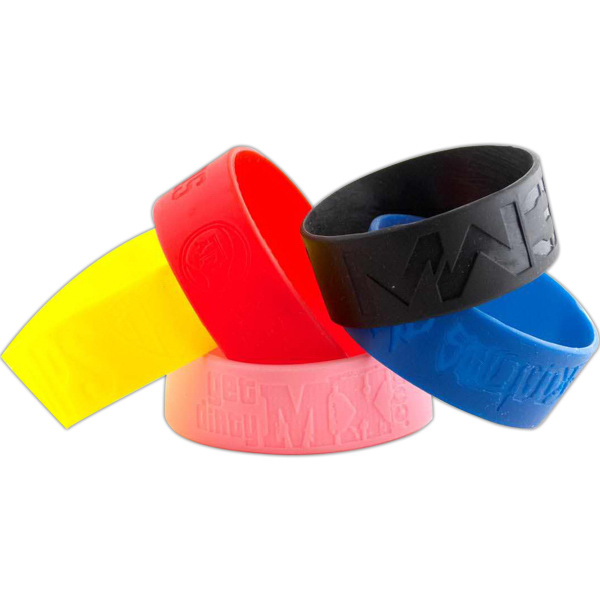"Promotional 1"" Debossed Wristbands"