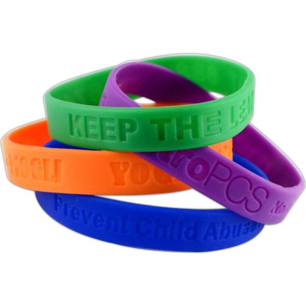 "Personalized 1/2"" Debossed Wristbands Rush"