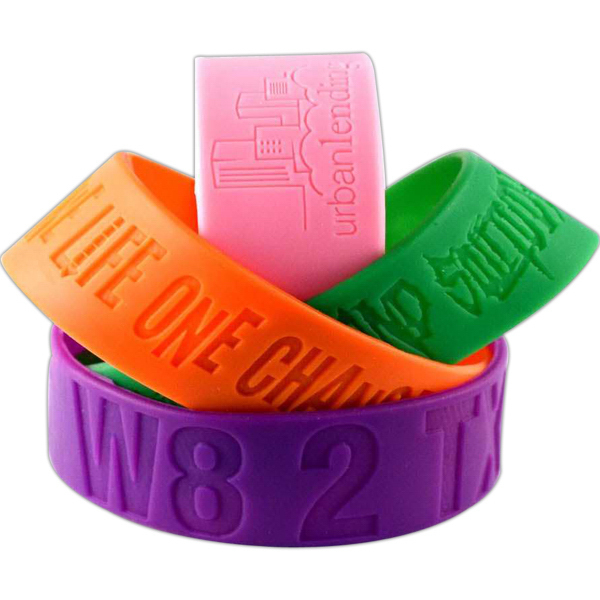 "Promotional 1"" Debossed Wristband"