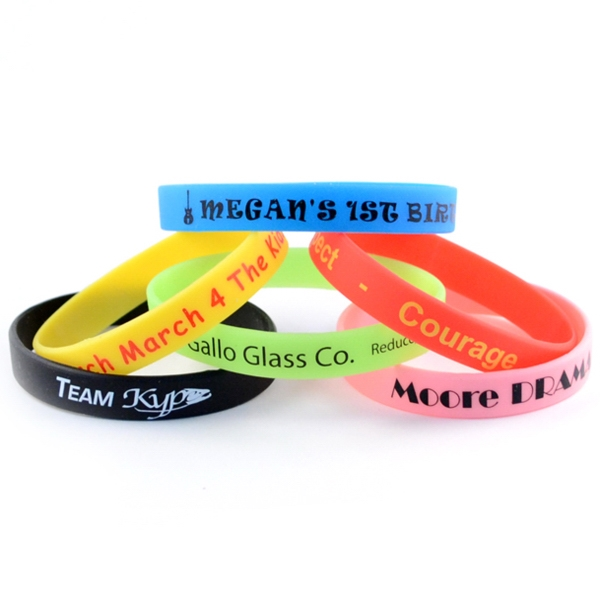 "Personalized 1/2"" Printed Wristbands"