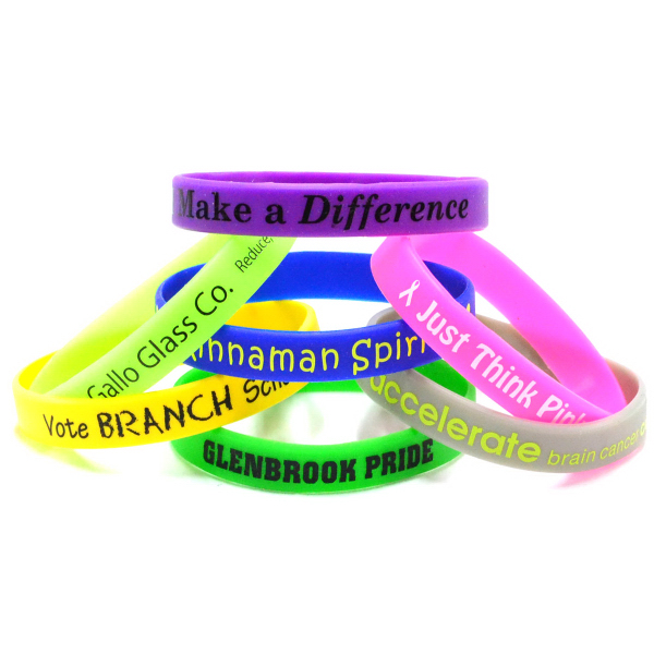 "Personalized 1/2"" Printed Wristbands Rush"