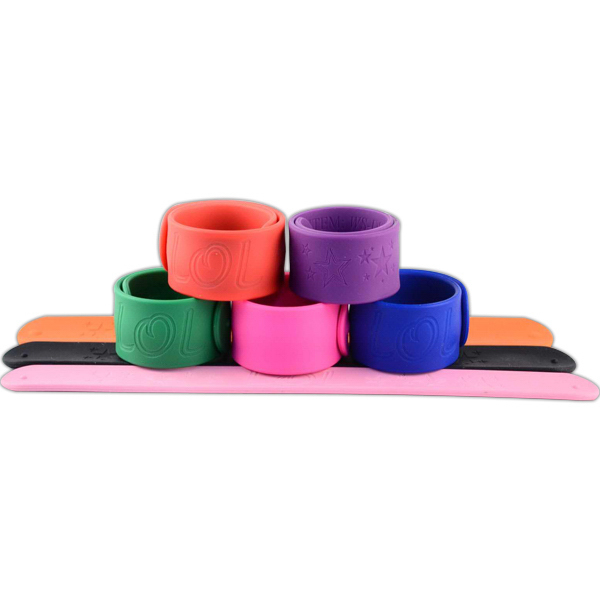 Promotional Debossed Silicone Slap Bands