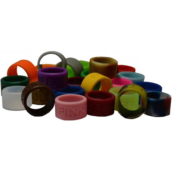 Promotional Color Filled Silicone Thumb Rings