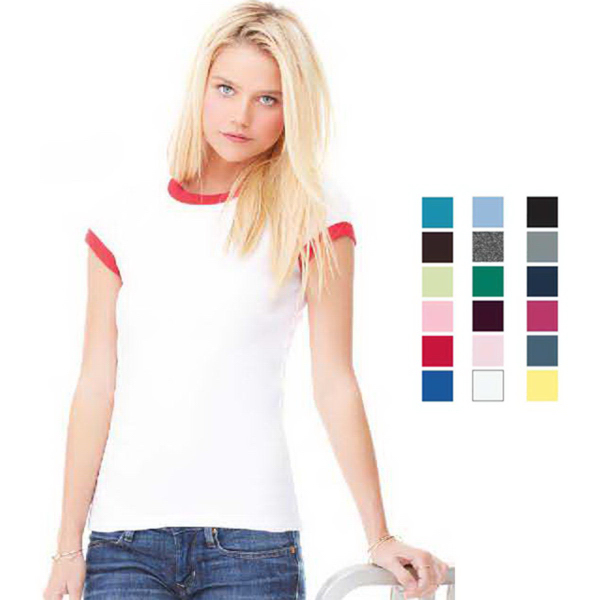 Imprinted Bella + Canvas Women's Baby Rib Ringer Tee