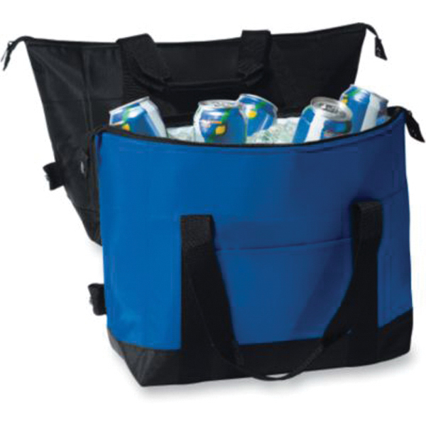 Printed Twelve pack two color expandable cooler