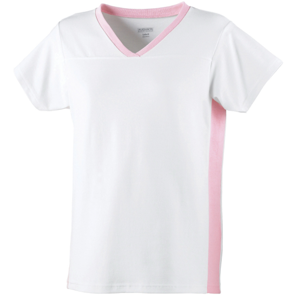 Imprinted Girls cotton / spandex football tee