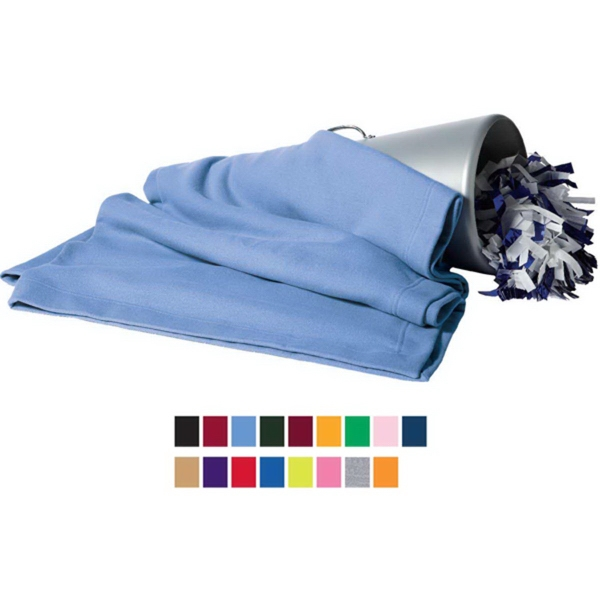 Printed Gildan Dry-Blend (TM) fleece stadium blanket