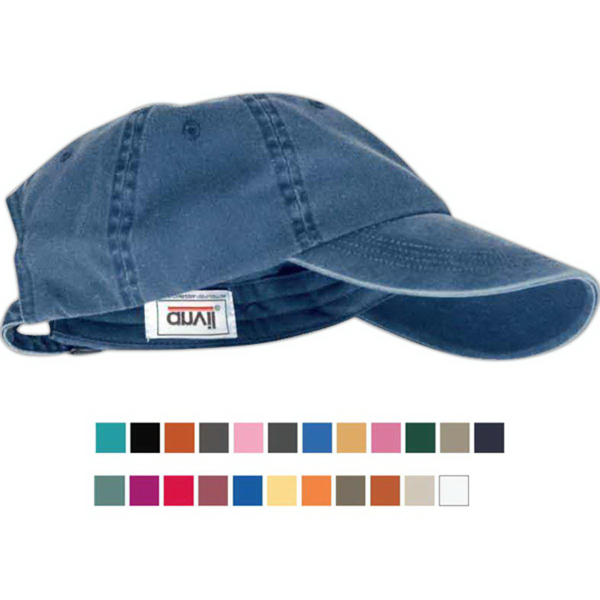 Imprinted Anvil Solid Low Profile Pigment Dyed Cap