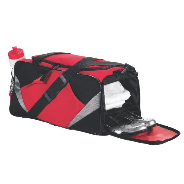 Printed Game duffel with shoe pocket