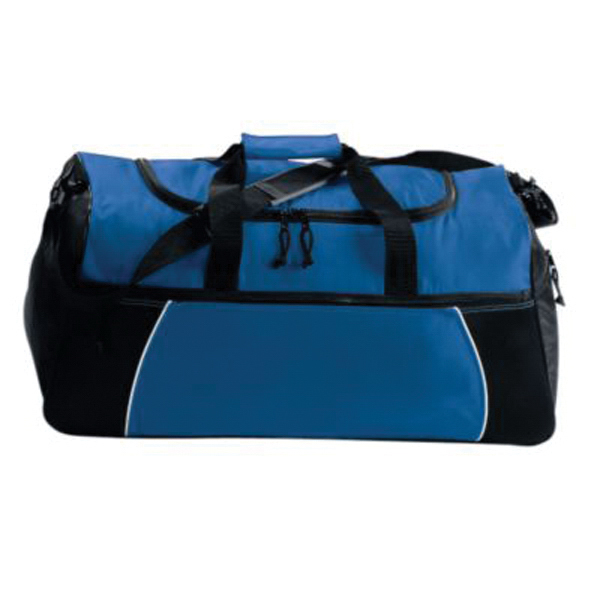 Customized Tri - color duffel bag