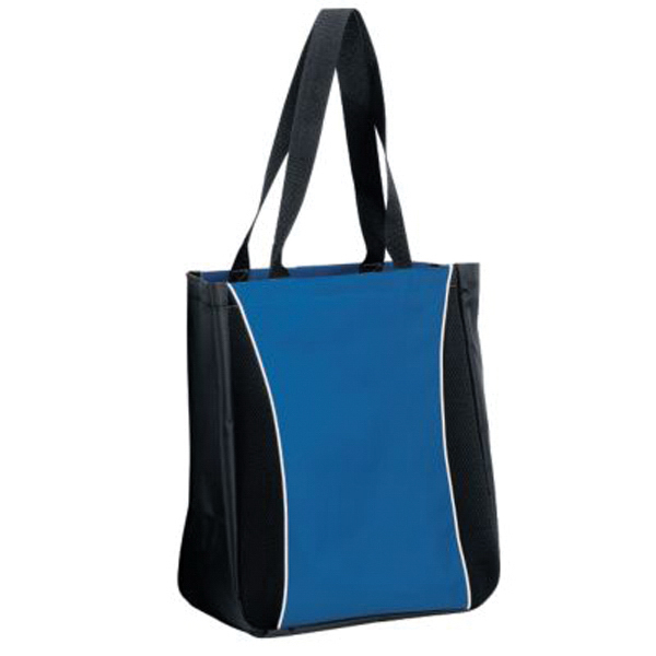 Imprinted Tri - color tote bag