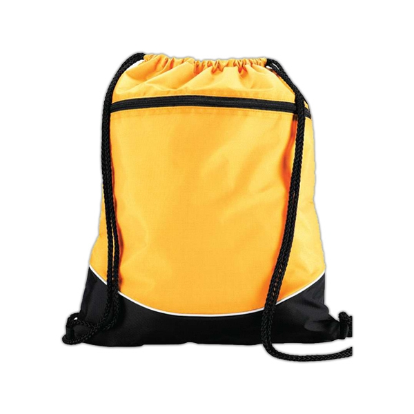 Customized Tri color drawstring backpack