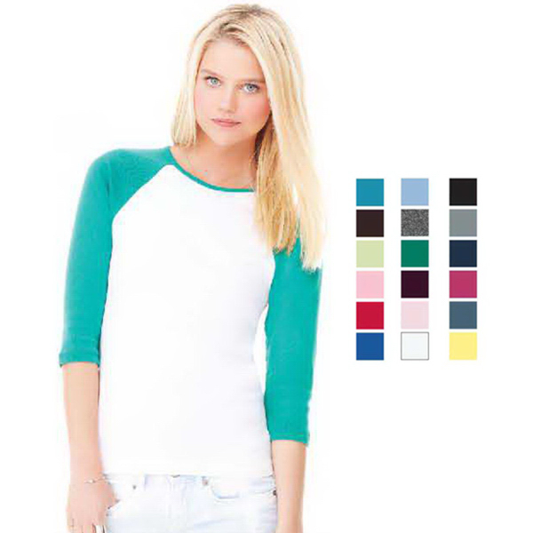 Imprinted Bella + Canvas Women's 3/4 Sleeve Tee