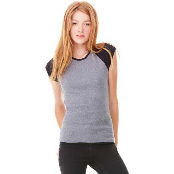 Promotional Bella + Canvas Women's Cap Sleeve Raglan Tee
