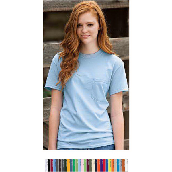 Custom Gildan Ultra Cotton (TM) Adult Tee With Pocket