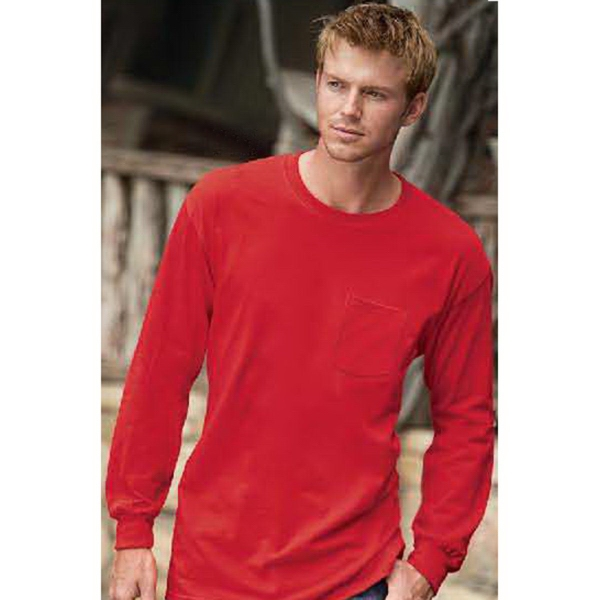 Promotional Gildan Ultra Cotton (TM) Long Sleeve Tee with Pocket