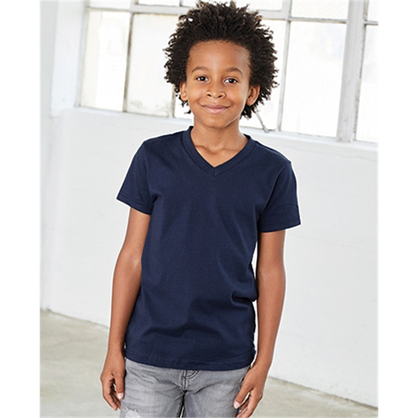 Customized Bella + Canvas Youth Jersey V-Neck Tee