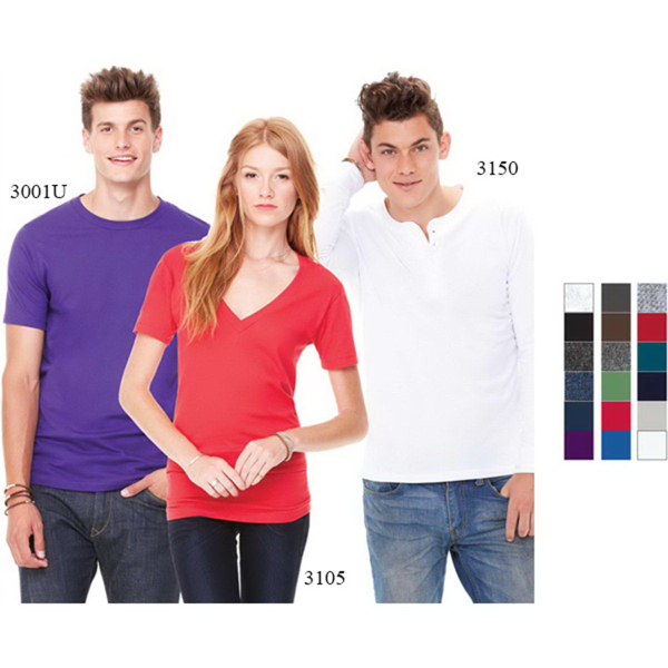 Personalized Bella+Canvas Unisex Jersey Deep V-Neck Tee