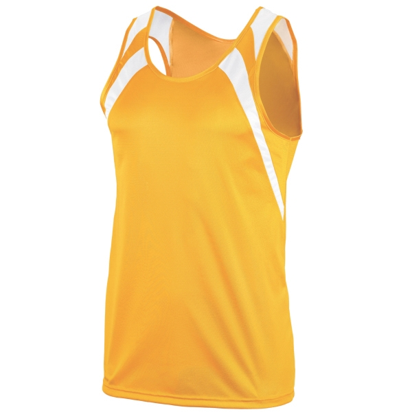 Personalized Youth wicking tank with shoulder insert