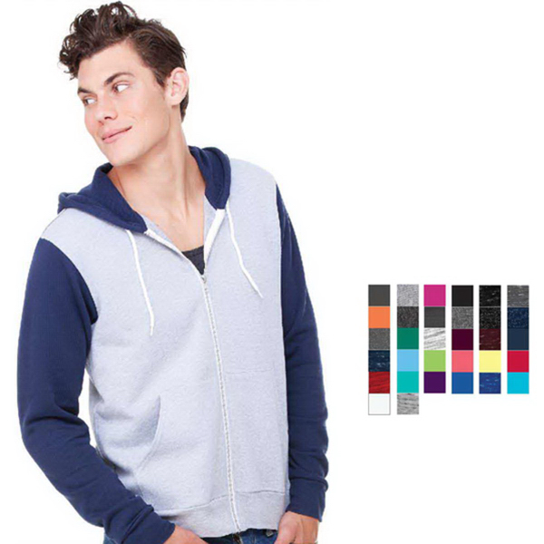 Imprinted Bella + Canvas Unisex Full Zip Hoodie