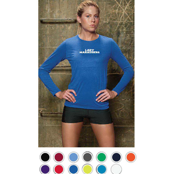 Imprinted Gildan Women's Performance Long Sleeve Tee