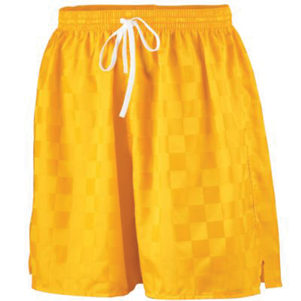 Printed Long checkerboard nylon shorts