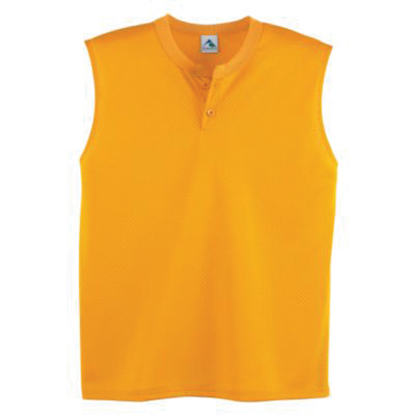 Customized Youth mesh sleeveless two button jersey