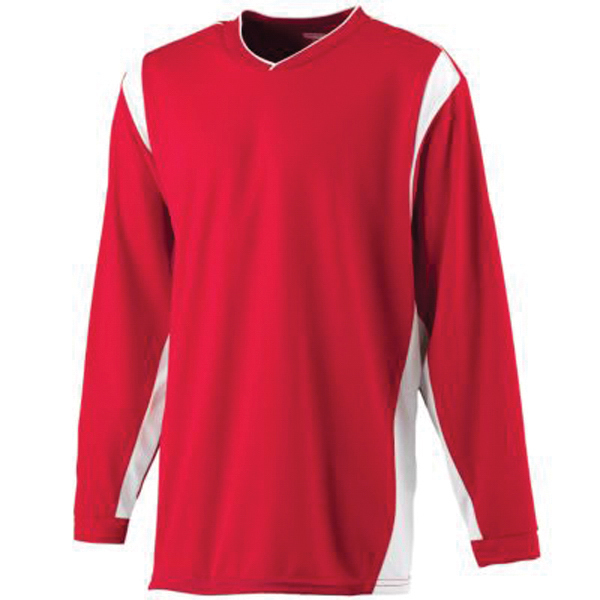 Promotional Youth wicking long sleeve warm-up shirt