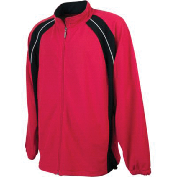 Imprinted Youth wicking mesh color block jacket