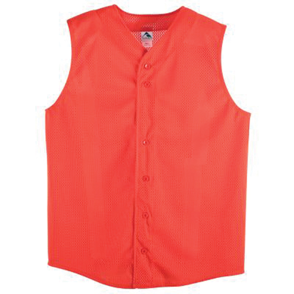 Customized Youth pro mesh sleeveless button front jersey