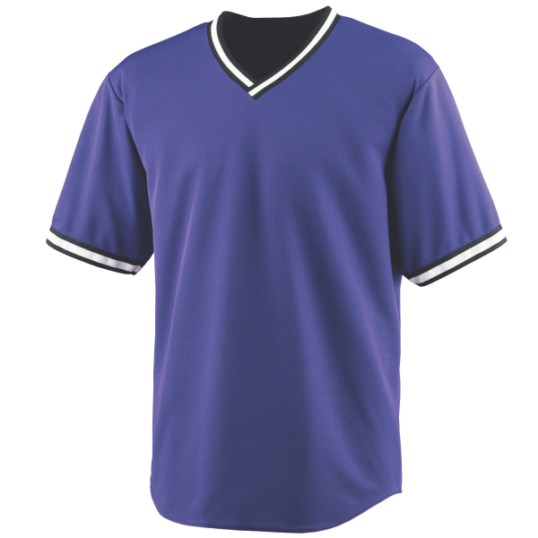 Imprinted Baseball jersey with heat sealed label