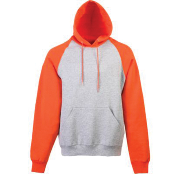 Promotional Youth color block hooded sweatshirt