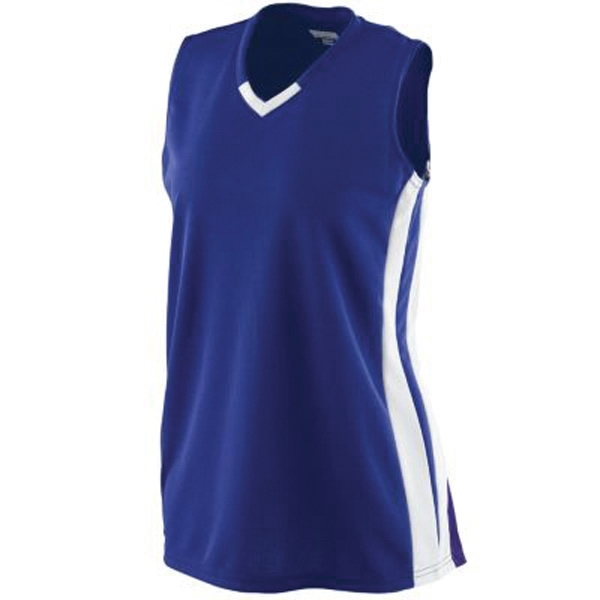 Promotional Girls wicking mesh victory jersey